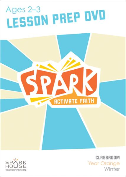 Spark Classroom / Year Orange / Winter / Age 2-3 / Lesson Prep Video DVD