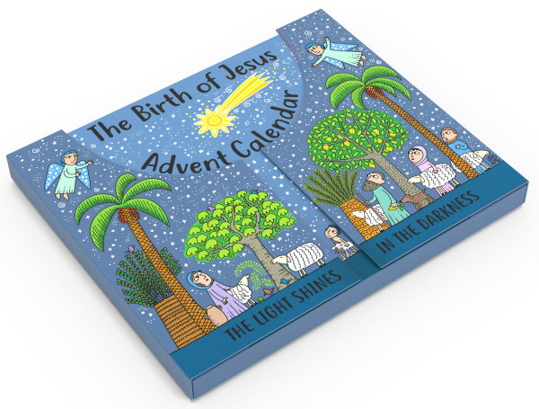 The Birth of Jesus Advent Calendar and Nativity Scene