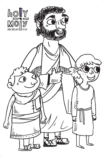 holy moly coloring poster