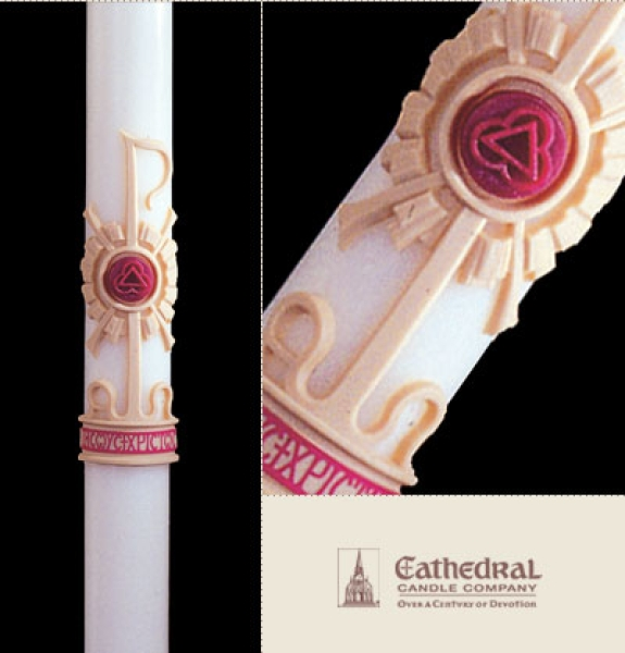 Holy Trinity Paschal Candle, Plain End