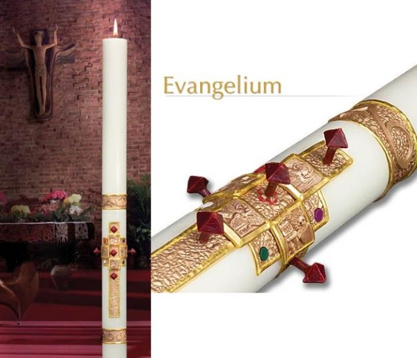 Evangelium Eximious Paschal Candles, Plain End